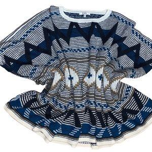 BB Dakota Multicoloured Knit Poncho O/S